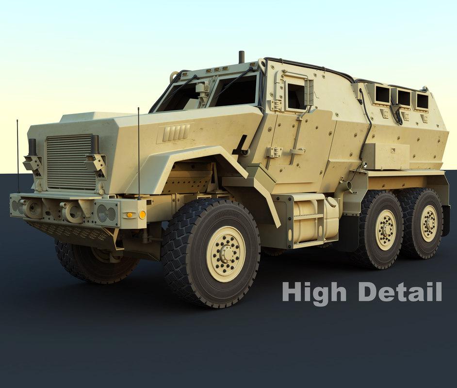 caiman military vehicle 3d max