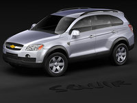 chevrolet captiva suv 3d model