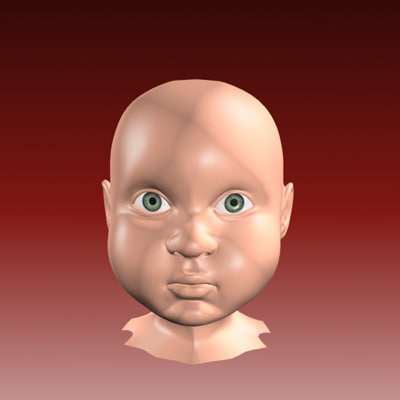 3d child face model