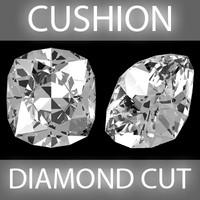 3dsmax cushion diamond cut