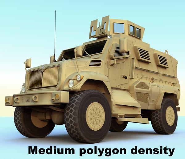 3d model maxxpro dash mrap vehicle