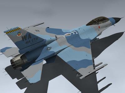 usaf f-16c 3d model