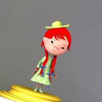 child human kid 3d model