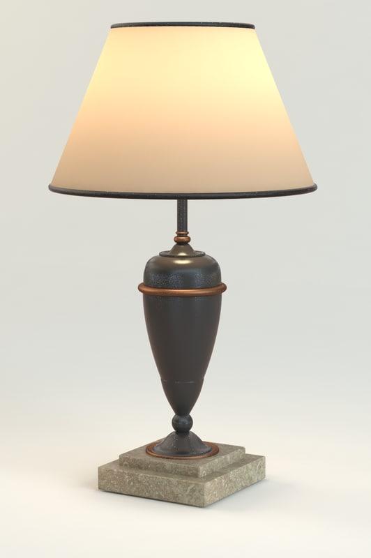 3ds max antique elegant table lamp