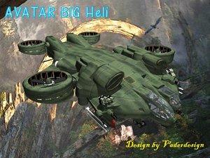 big gunship avatar 3d model