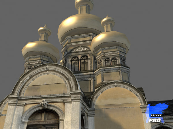 3ds max russian church building