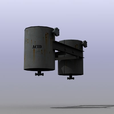 low-poly acid tanks 3d model