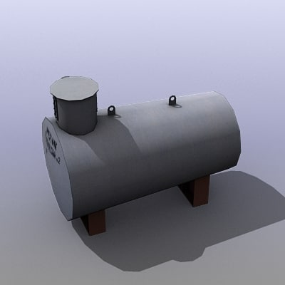 3d low-poly water tank model