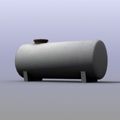 3d low-poly simple water tank