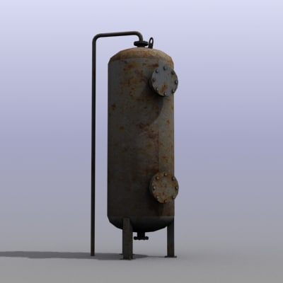 low-poly water tank 3d model
