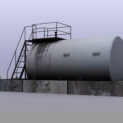 3dsmax fuel tank