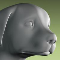 dog puppy statue max