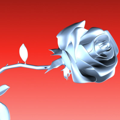 3d model rose porcelain
