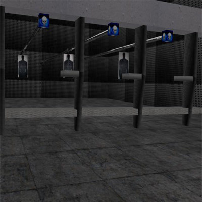shooting range 3d model
