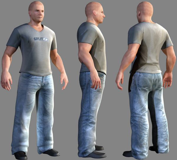 3d model casual male character