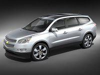 3d chevrolet traverse suv model
