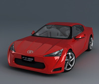 3d model toyota ft 86 -