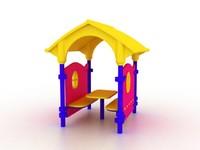 plastic house 3d model