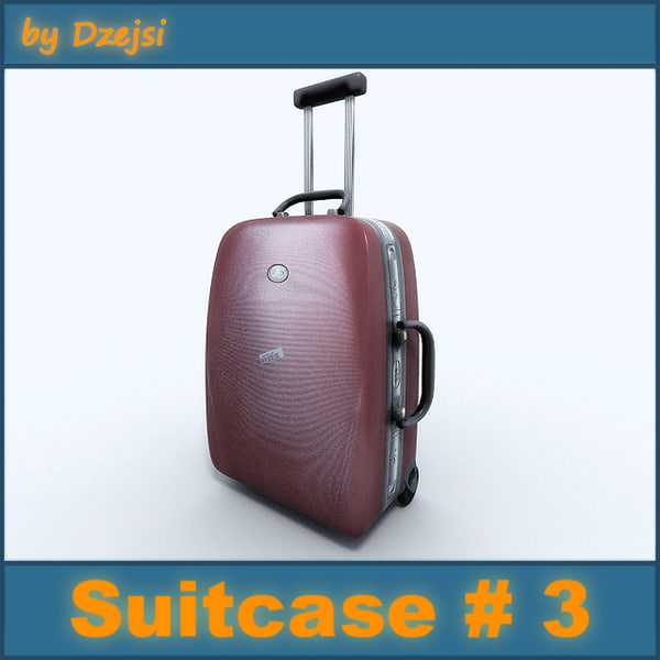 3d model of case suitcase