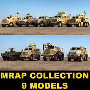 military vehicles 3d model