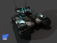 scorpion tank 2020 3d model