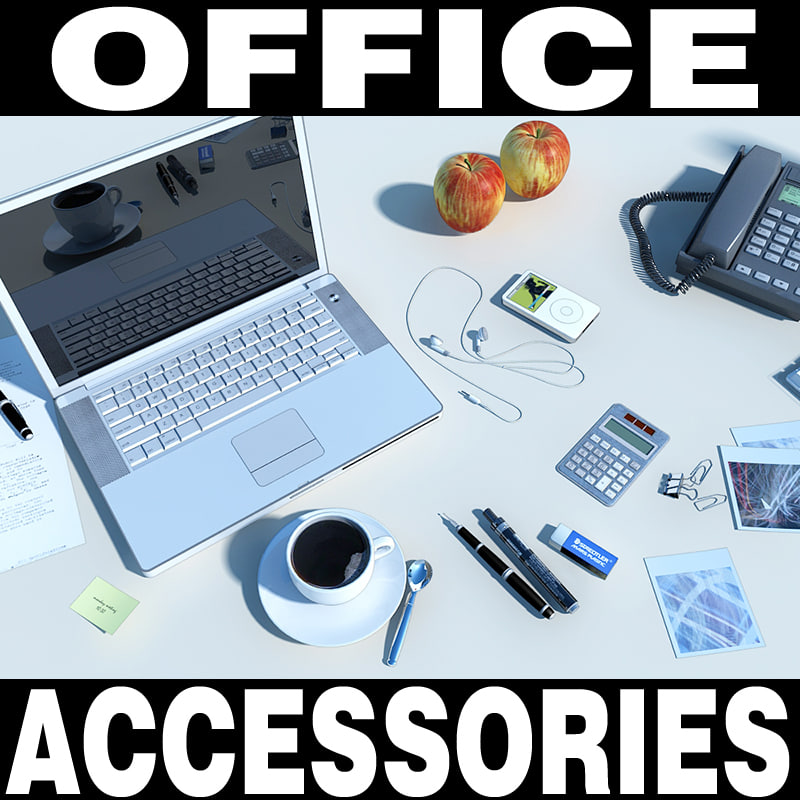 3d office accessories