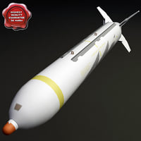 aircraft bomb cbu-59 apam 3d model
