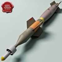 3ds max aircraft bomb gbu-12 paveway