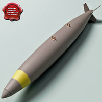 aircraft bomb mk-81 conical 3d model