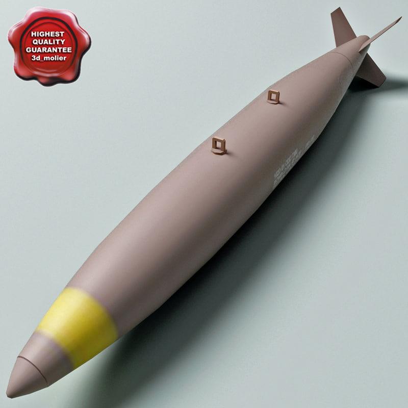 aircraft bomb mk-82 conical 3d model