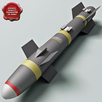 aircraft missile agm-114 hellfire 3d model