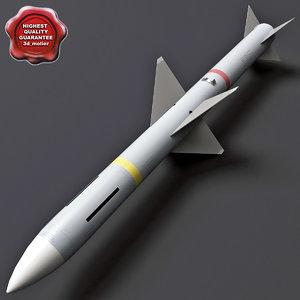 aircraft missile aim-7 sparrow 3d model