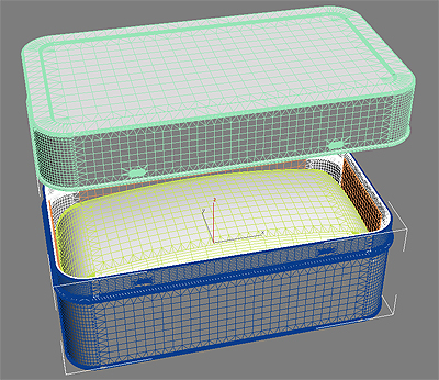 3d 3ds bath toiletry ex-foliating bar