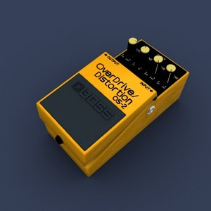 overdrive distortion pedal 3d model