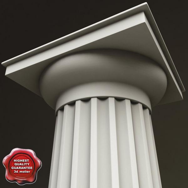 3d doric order column model
