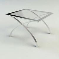 end table - materials 3d model