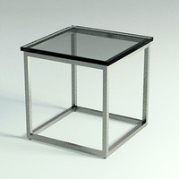 3d end table - materials model