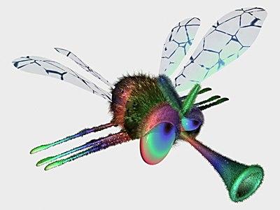 3d model fly cartoon