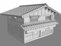 antique japanese inn 3d model