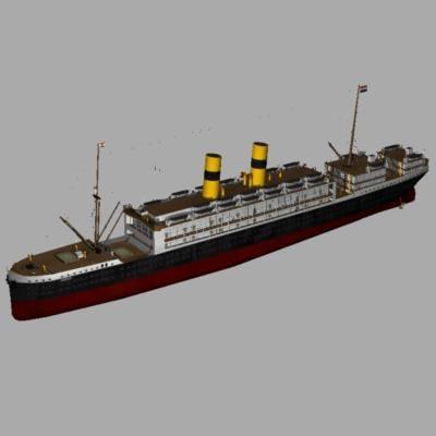 ss tubanita cruise ship 3d model