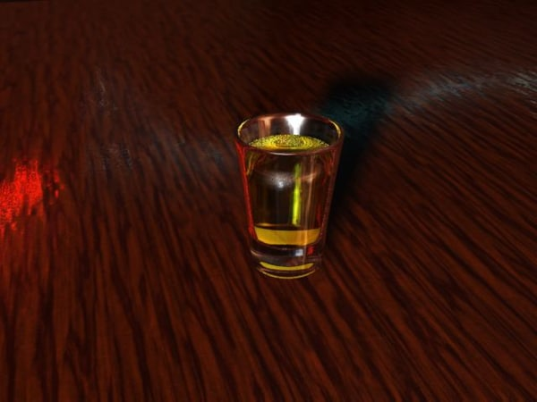shot glass 3d model