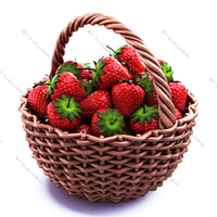 3d model strawberry basket