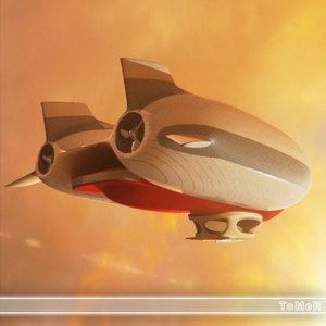 3d zeppelin model