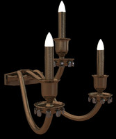 brass wall lamp old style 3d model