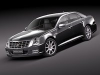 cadillac sls sedan luxury 3d model