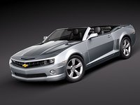 chevrolet chevy camaro convertible 3d model