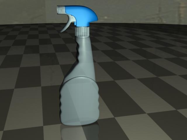 cleaning bottle 3d model