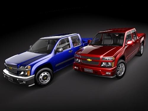 chevrolet colorado 2004 2010 3d model