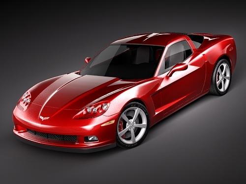 3ds max chevrolet corvette sport c6