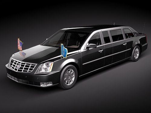 3dsmax cadillac dts armored presidental